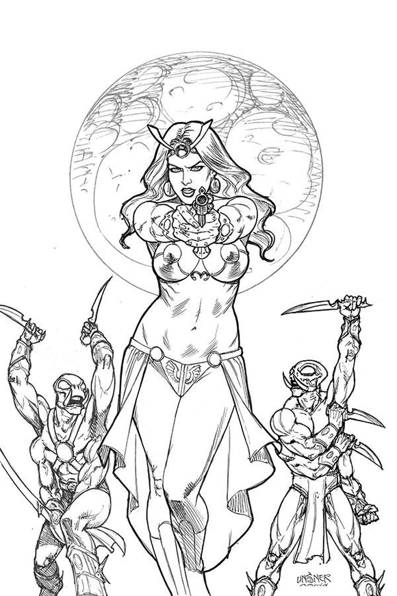 DEJAH THORIS 2019 #2 21 COPY LINSNER B&W VIRGIN INCV