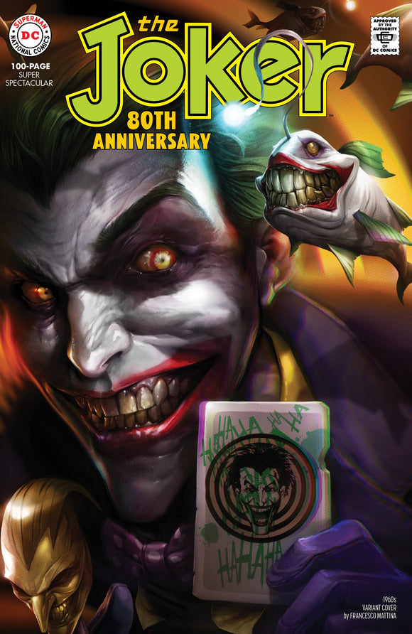 JOKER 80TH ANNIV 100 PAGE SUPER SPECT #1 1960S F MATTINA VAR ED