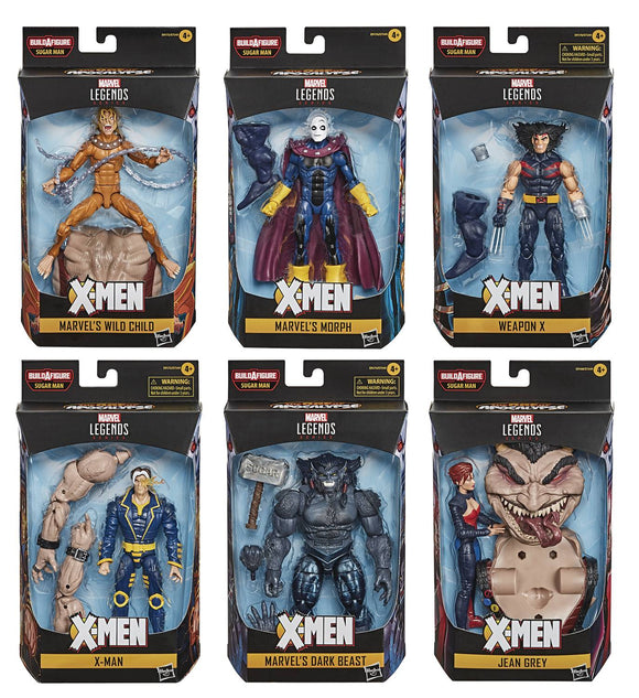 X-MEN LEGENDS 6IN AF SET SUGAR MAN BAF (SET OF ALL 7 FIGURES)