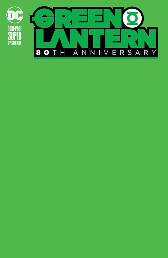 GREEN LANTERN 80TH ANNIV 100 PAGE SUPER SPECT #1 BLANK