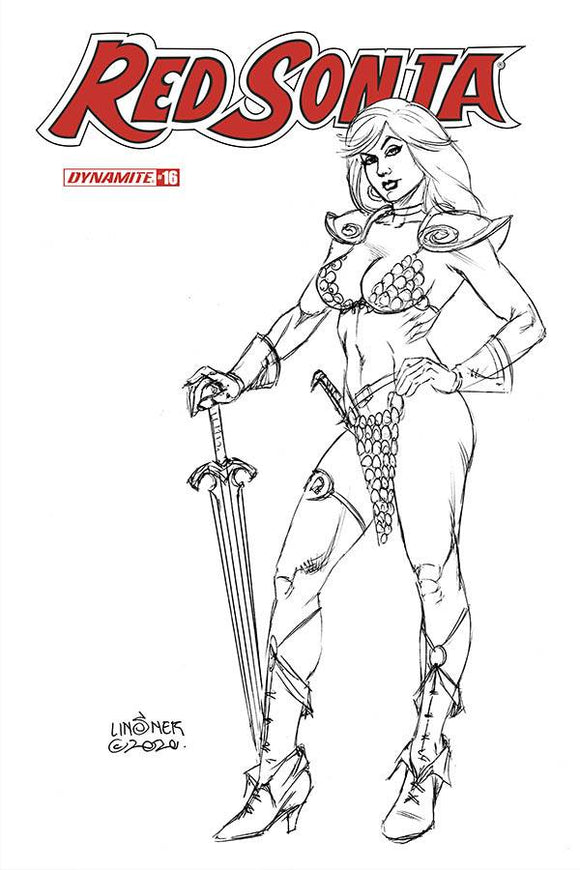 RED SONJA #16 20 COPY LINSNER B&W INCV