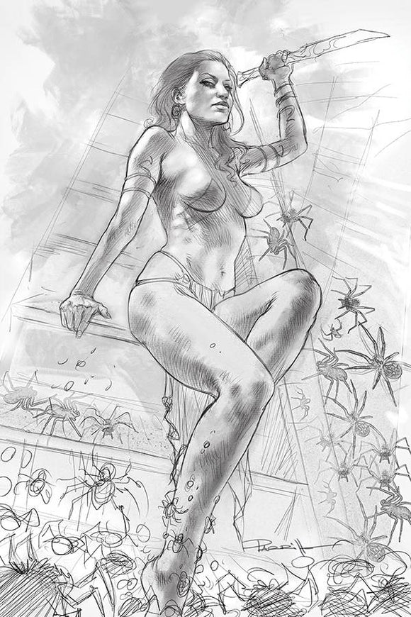 DEJAH THORIS 2019 #4 21 COPY PARRILLO B&W VIRGIN INCV