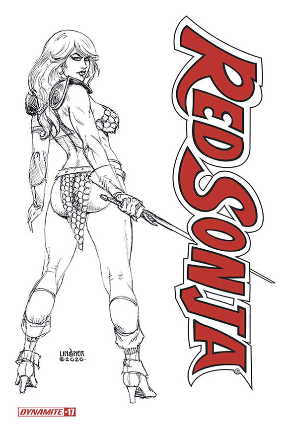 RED SONJA #17 20 COPY LINSNER B&W INCV