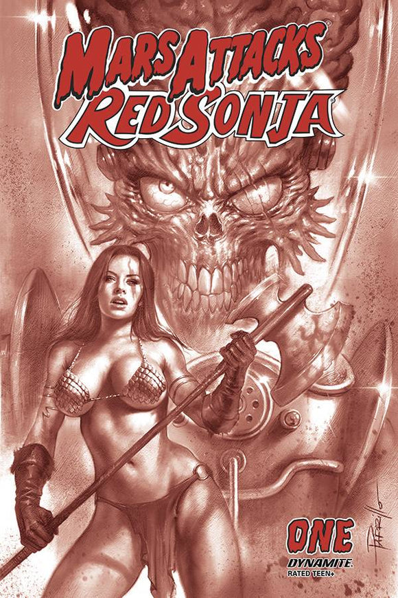 MARS ATTACKS RED SONJA #1 21 COPY PARRILLO TINT FOC IN