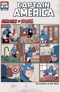 CAPTAIN AMERICA #23 GURIHIRU HEROES AT HOME VAR