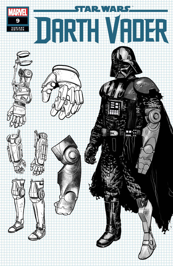 STAR WARS DARTH VADER #9 IENCO DESIGN VAR