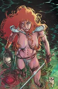 RED SONJA #21 21 COPY CONRAD RISQUE VIRGIN FOC INCV