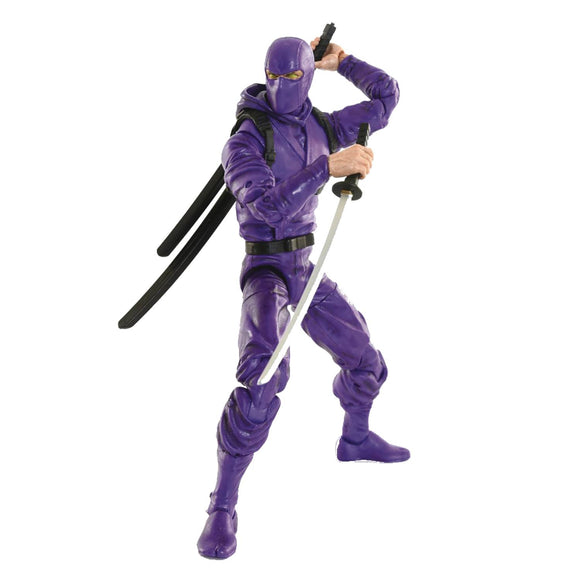 ARTICULATED ICONS BASIC NINJA PURPLE 6IN AF