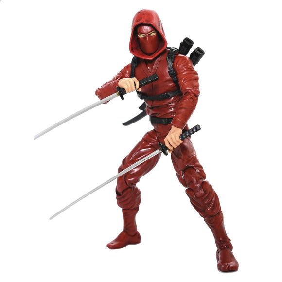 ARTICULATED ICONS CLAN OF THE CRIMSON FURY NINJA 6IN AF