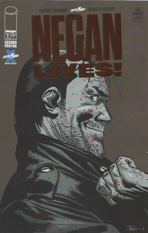 NEGAN LIVES #1 2ND PTG RETAILER THANK YOU VAR BRONZE