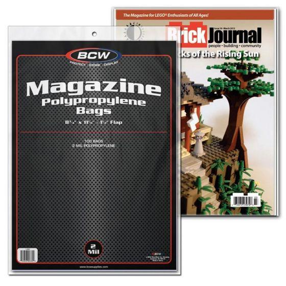 BCW COMIC BAGS -MAGAZINE SIZE (PACK OF 100)