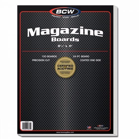 BCW COMIC BACKING BOARDS – MAGAZINE SIZE (PACK OF 100)