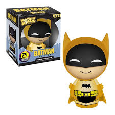DORBZ 36 BATMAN 75TH ANNIV BATMAN YELLOW LTD ED VINYL FIG