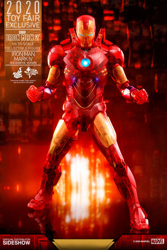 HOT TOYS IRON MAN 2 IRON MAN MARK IV HOLOGRAPHIC VERSION 1/6 SCALE FIGURE