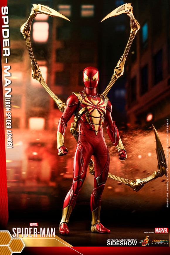 HOT TOYS SPIDER-MAN VIDEO GAME IRON SPIDER ARMOR 1/6 SCALE FIGURE