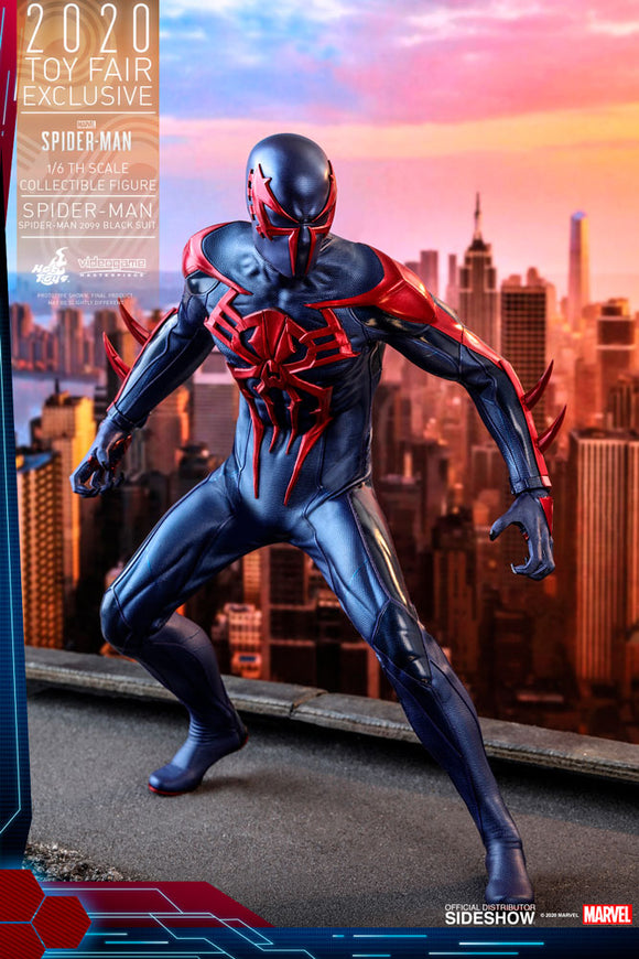 HOT TOYS SPIDER-MAN VIDEO GAME SPIDER-MAN 2099 BLACK SUIT 1/6 SCALE FIGURE