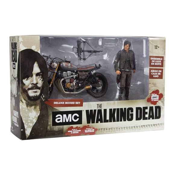 WALKING DEAD TV DARYL DIXON W/NEW BIKE AF BOX SET