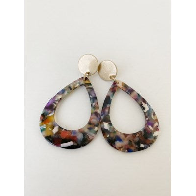 colour pop resin earrings