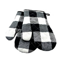 Load image into Gallery viewer, oven mitts-lumberjack plaid