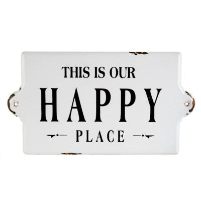 our happy place sign large