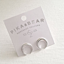 Load image into Gallery viewer, P&B stud earrings silver
