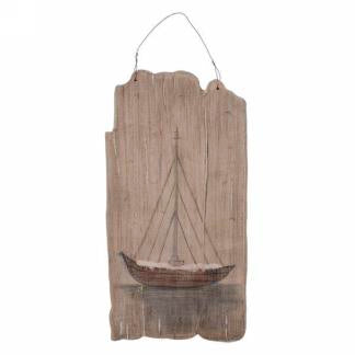 wall art- wood sailboat