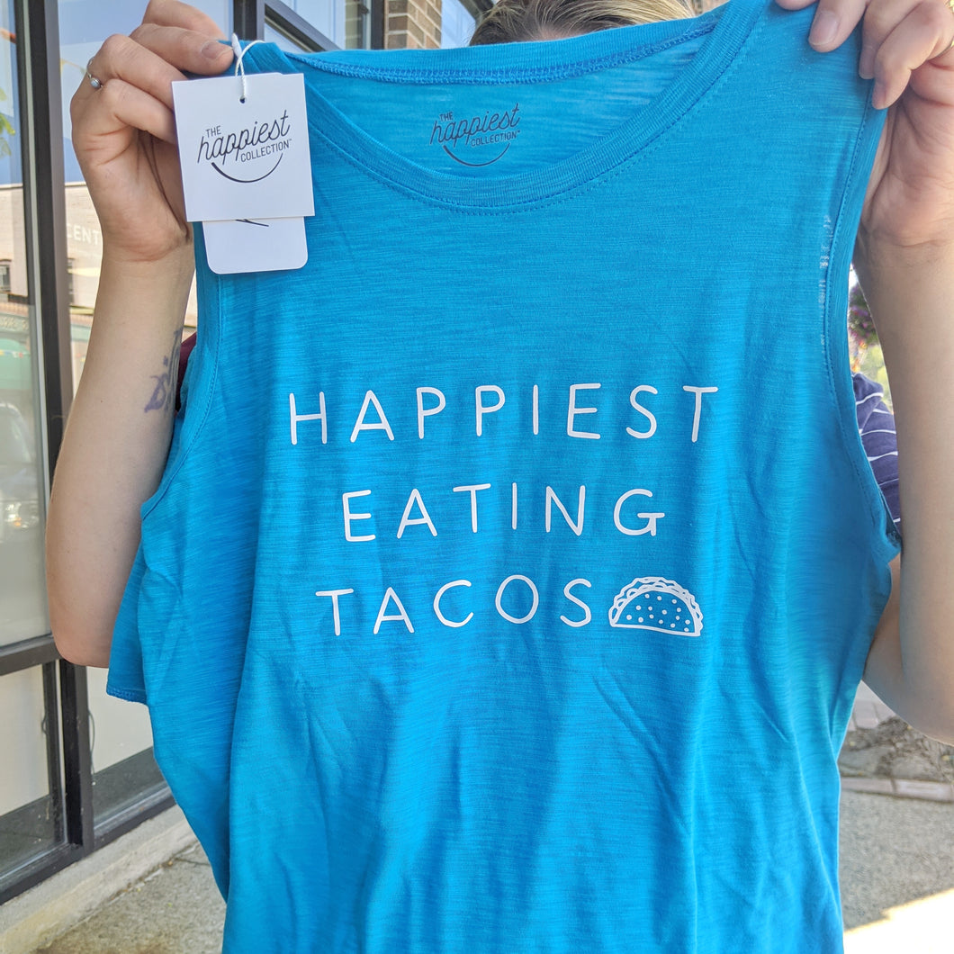 Happiest eating tacos tank