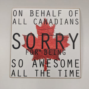 sign-on behalf of Canadians