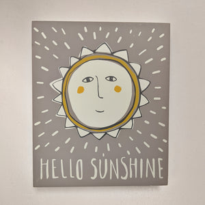 Hello Sunshine block sign