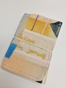 journal with cloth cover and tie