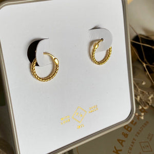 P&B Helena textured hoop earrings