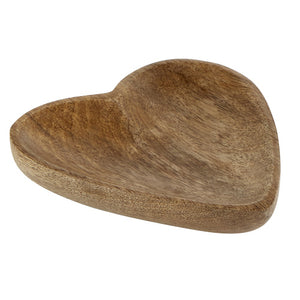 tray- wooden heart small
