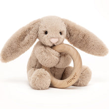 Load image into Gallery viewer, Jellycat wooden ring rattle
