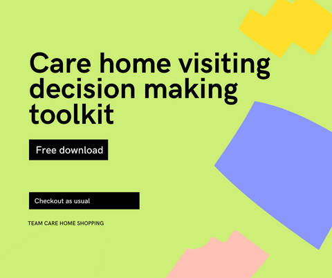 Care home visiting decision making tool