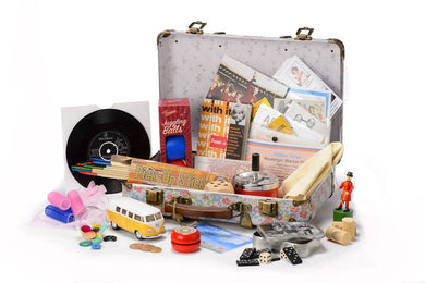 1960s Reminiscence Suitcase complete with Memorabilia Pack - Care Home Shopping