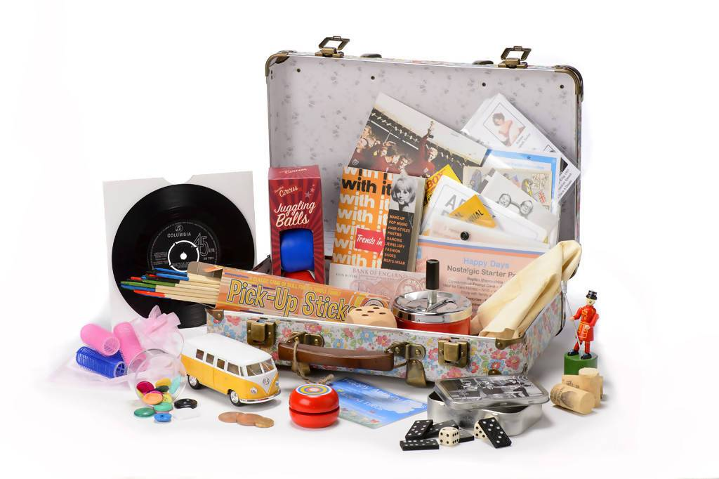 1960s Reminiscence Suitcase complete with Memorabilia Pack
