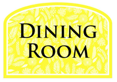 Care Home Social Signage - Dining Room - Care Home Shopping