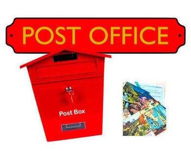 Post Box & Sign & Postcards Pack - Care Home Shopping