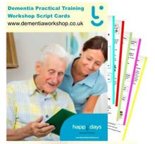 Load image into Gallery viewer, Dementia Engagement Training Workshop Script Cards - Care Home Shopping