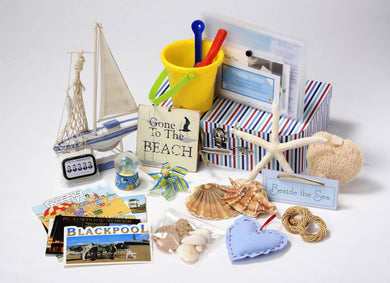 Seaside Reminiscence & Rummage Basket - Care Home Shopping