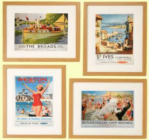 Seaside Destinations Framed Wall Art Set of 4 - Care Home Shopping