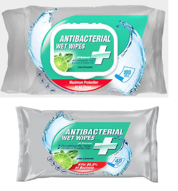 Anti Bacterial Wipes - 100 pcs - Care Home Shopping