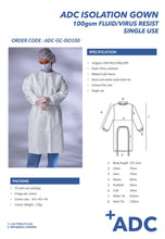 Load image into Gallery viewer, NHS APPROVED 100gsm Fluid Resistant Isolation Gown (540 units) - Care Home Shopping