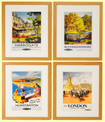 UK Destinations Framed Wall Art x Set of 4 - Care Home Shopping