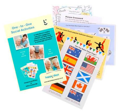 Happy Days Dementia Activity Book - Care Home Shopping