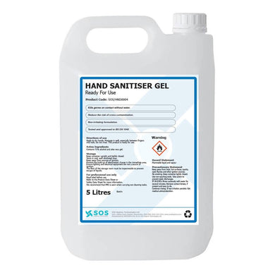 71% Alcohol Hand Sanitiser Gel (4 x 5 Litres) - Care Home Shopping