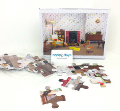 1950s Living Room Jigsaw Puzzle - 35 Large Pieces