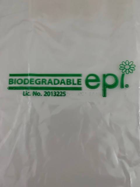 ECO FRIENDLY OXY BIODEGRADABLE APRON - 700mm x 1170mm x 25Mu - Pack of 500, over 50% thicker than NHS spec
