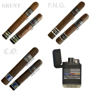 Line of Duty Sampler: 6 Cigars and Free Lighter!