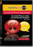 Secrets of Power Negotiating® Key Verbal Phrases and Questioning Techniques MP3 File or 2-CD Set